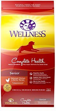 Wellness Complete Health Natural Dry Senior Dog Food, Chicken & Barley,