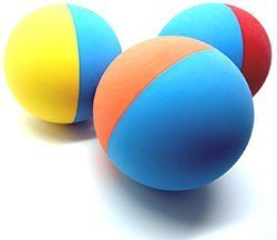 Snug Rubber Dog Balls - Tennis Ball Size - Virtually Indestructible
