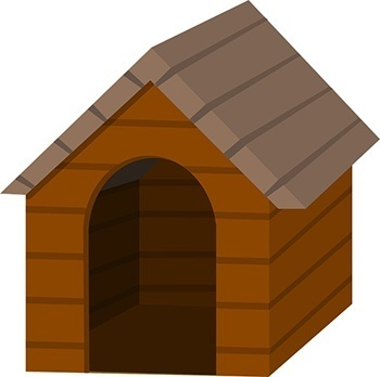 dog house without door