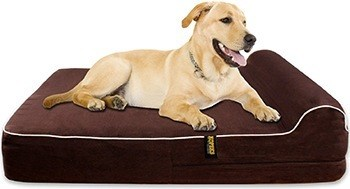 KOPEKS Orthopedic Memory Foam Dog Bed With Pillow and Waterproof Liner