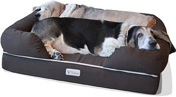 PetFusion Ultimate Dog Lounge. Premium Edition with Solid Memory Foam.