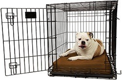 "Orthopedic 4"" Dog Crate Pad by Big Barker. Waterproof & Tear Resistant. Thick, Heavy Duty, Tough, Washable Cover"