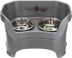 NEATER PET BRANDS Neater Feeder Deluxe Dog (All Sizes) - The Mess Proof Elevated Bowls No Slip Non Tip Double Diner Stainless Steel Food Dish with Stand