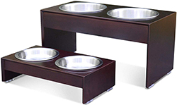 PetFusion Elevated Dog Bowl Stand in Premium Bamboo (responsibly sourced). U.S. FOOD GRADE Stainless steel bowls
