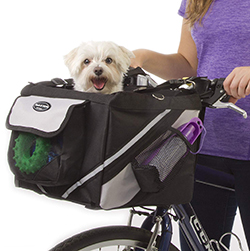 Jack and Dixie Traveler 2-in-1 Pet Bike Basket and Over The Shoulder Carrier