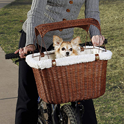 PetSafe Solvit Tagalong Bicycle Basket, Dog Carrier for Bikes, Best for Dogs Up to 13 lb