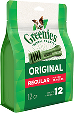 Greenies Dog Dental Chews Dog Treats - Regular Size (25-50 lb Dog)