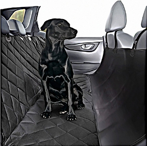 Plush Paws Ultra-Luxury Pet Seat Cover - 2 Bonus Harnesses & 2 Seat Belts, Advanced Waterproof Backing