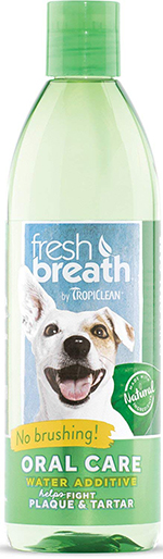 Tropiclean Fresh Breath Plaque Remover Pet Water Additive