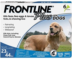 Frontline Plus for Dogs Medium Dog (23-44 pounds) Flea and Tick Treatment