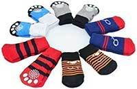 LFPET Traction Control Cotton Socks Indoor Dog Nonskid Knit Socks 5 Pairs Random Color