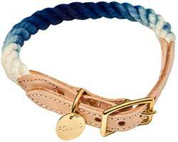 Found My Animal Ombre Rope & Leather Dog & Cat Collar