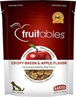 Fruitables Crispy Bacon & Apple Flavor Crunchy Dog Treats,