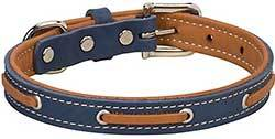 Weaver Pet Deck Leather Dog Collar