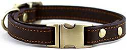 chede Luxury Real Leather Dog Collar- Handmade for Medium Dog Breeds with The Finest Genuine Leather Collar That is Stylish,Soft Strong and Comfortable