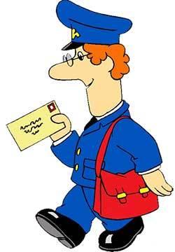mailman delivering letters
