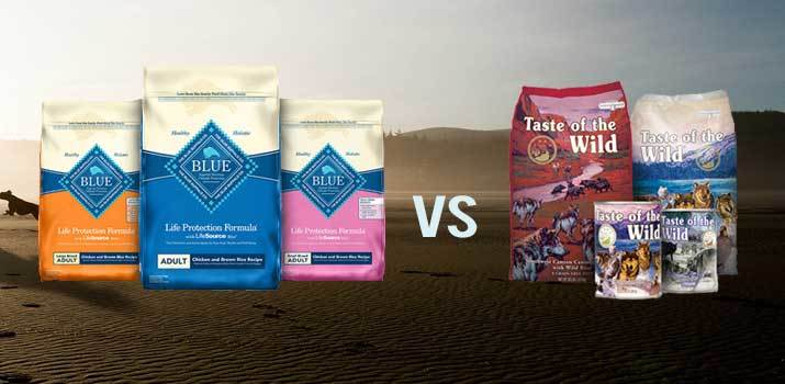 Blue Buffalo vs Taste of the Wild Dog Food