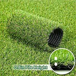 "Petgrow · Artificial Synthetic Grass Turf 5FTX8FT(40 Square FT),0.8"" Pile Height Indoor Outdoor Pet Dog Artificial Grass Mat Rug Carpet for Garden Backyard Balcony"