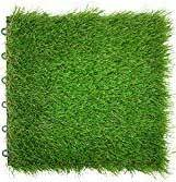 Reliancer 9PCS Artificial Grass Turf Interlocking Grass Tile Lawn Rug for Dogs Puppy