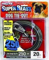 Boss Pet Prestige Dog Tie-Out, Super Beast, Black