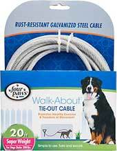 Four Paws Super Weight Tie Out Cable