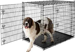 Frisco XX-Large Heavy Duty Double Door Wire Dog Crate, 54-in