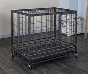 Go Pet Club Heavy Duty Single Door Wire Dog Crate, Metal, Medium