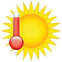 hot dry weather conditions