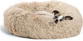 Best Friends by Sheri The Original Calming Shag Fur Donut Cuddler Cat & Dog Bed