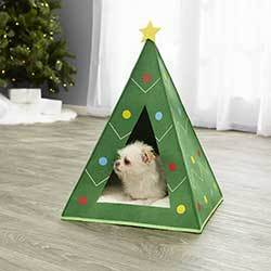 Frisco Holiday Dog & Cat Christmas Tree Cave Bed