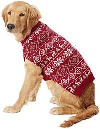 Frisco Reindeer Fair Isle Dog & Cat Christmas Sweater, Red