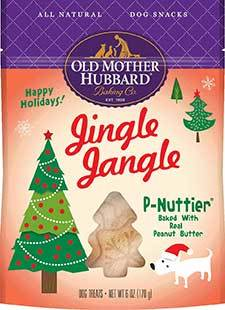 Old Mother Hubbard Holiday Jingle Jangle P-Nuttier Biscuits Baked Dog Treats, 6-oz bag