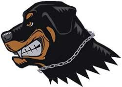aggressive angry rottweiler cartoon