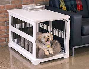 Merry Products Slide Aside Single Door Furniture Style Dog Crate & End Table