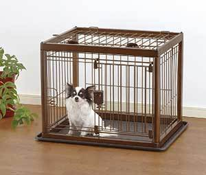 Richell Wooden Dog Crate, Dark Brown