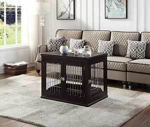 Unipaws End Table Wooden Dog Crate