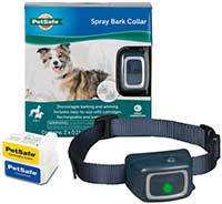 PetSafe Water Resistant Rechargeable Spray Dog Bark Collar with Disposable Spray Cartridges