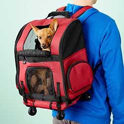 Gen7Pets Geometric Roller with Smart-Level Dog & Cat Carrier Backpack