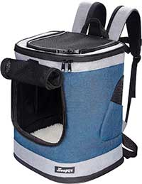 JesPet Dog & Cat Carrier Backpack, 17-in