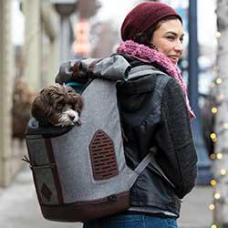 Kurgo K9 Dog & Cat Carrier Backpack, Heather Gray
