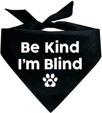 blind dog bandana